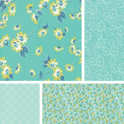 Flour Garden - Bundle of 4 Fat Quarters - Robin's Egg/Beryl