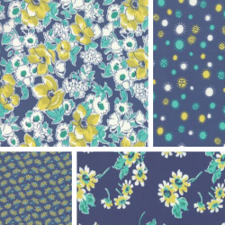 Flour Garden - Bundle of 4 Fat Quarters - Sodalite - PRE-ORDER DUE JANUARY
