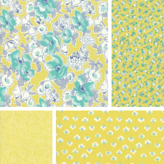 Flour Garden - Bundle of 4 Fat Quarters - Sprout