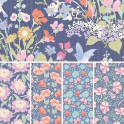 Gardenlife by Tilda - Fat Quarter Bundle - Blue - PRE-ORDER DUE MAY