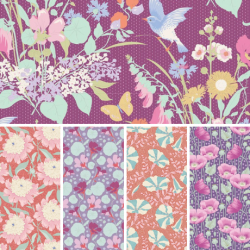 Gardenlife by Tilda - Fat Quarter Bundle - Purple - PRE-ORDER DUE MAY