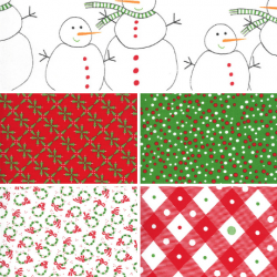 Merry And Bright - Bundle of 5 Fat Quarters (1) - PRE-ORDER DUE JUNE