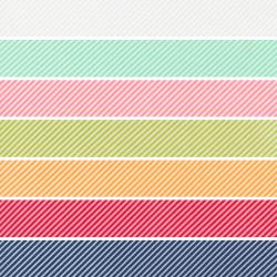 One Fine Day - Scrumptious Stripe Fat Quarter Bundle - 7 FQs - PRE-ORDER DUE DECEMBER