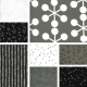 Quotation - Bundle of 8 Black, Grey and Cream Fat Quarters - PRE-ORDER DUE DECEMBER