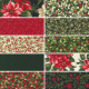 Sparkle And Shine Glitter - Bundle of 10 Fat Quarters - 1 FQ Free! - PRE-ORDER DUE AUGUST