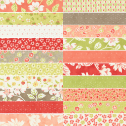 Strawberries And Rhubarb - Bundle of 20 Fat Quarters - 2 FQs Free and Mystery Gift! - PRE-ORDER DUE MAY