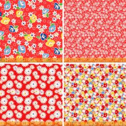 Sugarcube - Bundle of 4 Red FQs - PRE-ORDER DUE NOVEMBER