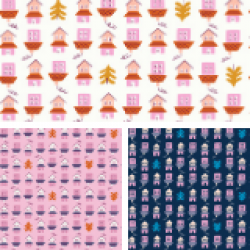 Ruby Star Society - Tarrytown - Little Houses Fat Quarter Collection - 3 FQs - PRE-ORDER DUE JUNE