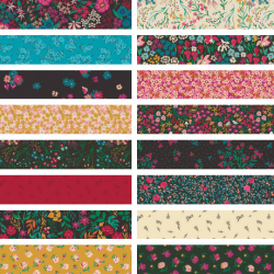 The Flower Society - *Complete Fat Quarter Bundle - 16 FQs, 1 FQ Free* - PRE-ORDER DUE JANUARY