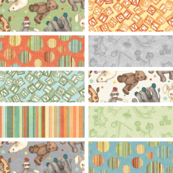 Toyland - Bundle of 10 Fat Quarters - 1 FQ Free!