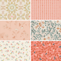 Velvet by Amy Sinibaldi - Fat Quarter Bundle Colour 1 - 6 FQs - PRE-ORDER DUE FEBRUARY