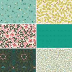 Velvet by Amy Sinibaldi - Fat Quarter Bundle Colour 2 - 6 FQs - PRE-ORDER DUE FEBRUARY