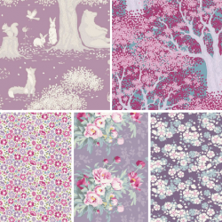 Woodland by Tilda - Purple Bundle of 5 Fat Quarters - PRE-ORDER DUE FEBRUARY/MARCH
