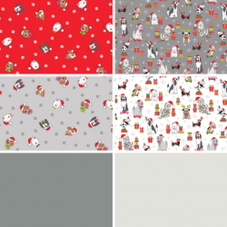 Yappy Christmas - Fat Eighth Bundle including Solids - PRE-ORDER DUE MAY