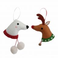 Felt Kit - Deer and Polar Bear Head